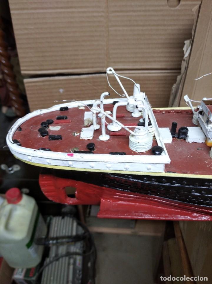 Maquetas: Enorme maqueta del Titanic. Fabricada artesanalmente. Para restaurar. Faltan piezas. - Foto 2 - 247731110