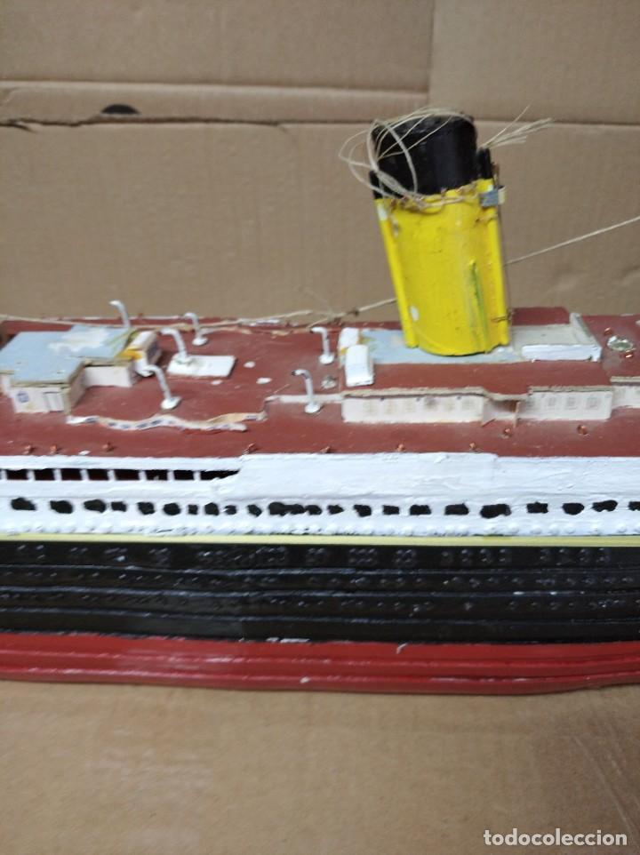 Maquetas: Enorme maqueta del Titanic. Fabricada artesanalmente. Para restaurar. Faltan piezas. - Foto 6 - 247731110