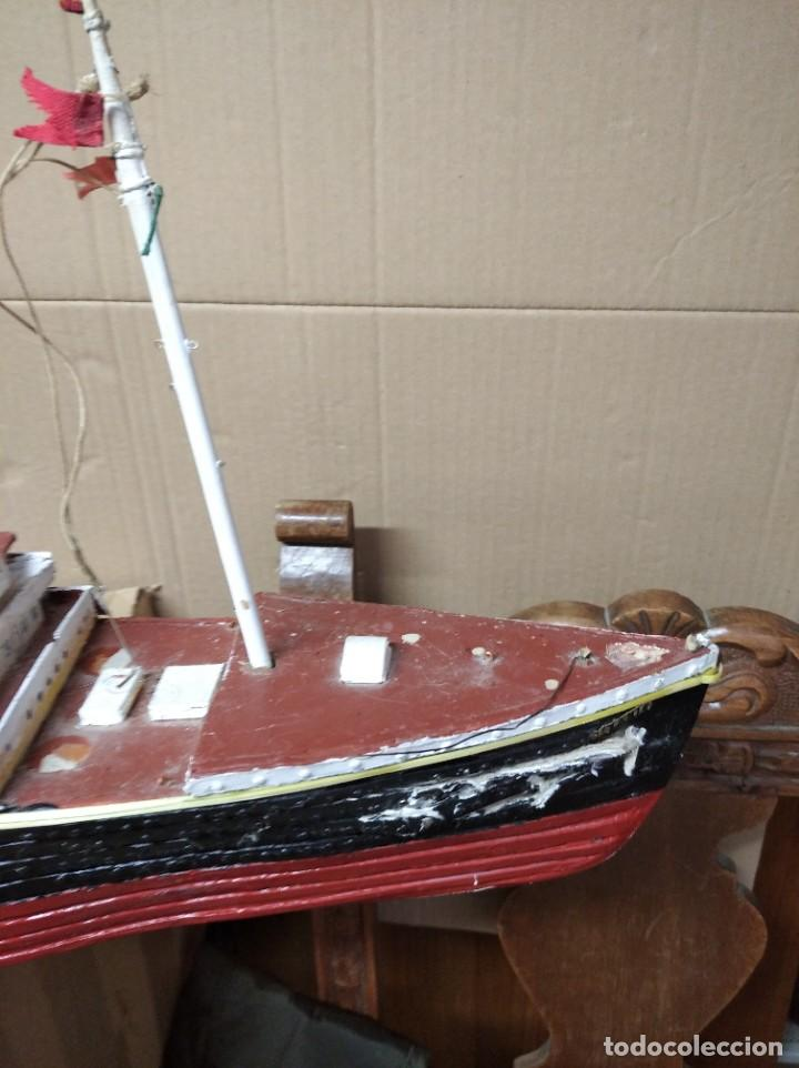Maquetas: Enorme maqueta del Titanic. Fabricada artesanalmente. Para restaurar. Faltan piezas. - Foto 9 - 247731110