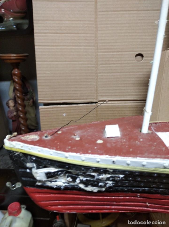 Maquetas: Enorme maqueta del Titanic. Fabricada artesanalmente. Para restaurar. Faltan piezas. - Foto 10 - 247731110