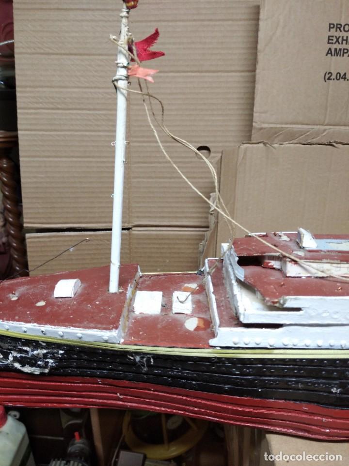 Maquetas: Enorme maqueta del Titanic. Fabricada artesanalmente. Para restaurar. Faltan piezas. - Foto 11 - 247731110