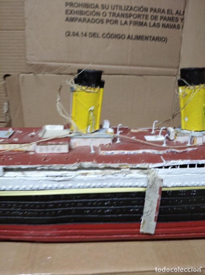 Maquetas: Enorme maqueta del Titanic. Fabricada artesanalmente. Para restaurar. Faltan piezas. - Foto 13 - 247731110