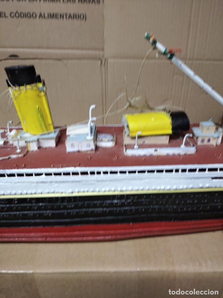 Maquetas: Enorme maqueta del Titanic. Fabricada artesanalmente. Para restaurar. Faltan piezas. - Foto 16 - 247731110