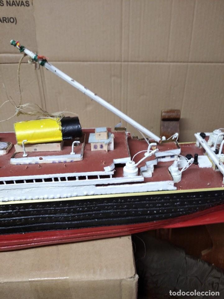 Maquetas: Enorme maqueta del Titanic. Fabricada artesanalmente. Para restaurar. Faltan piezas. - Foto 17 - 247731110