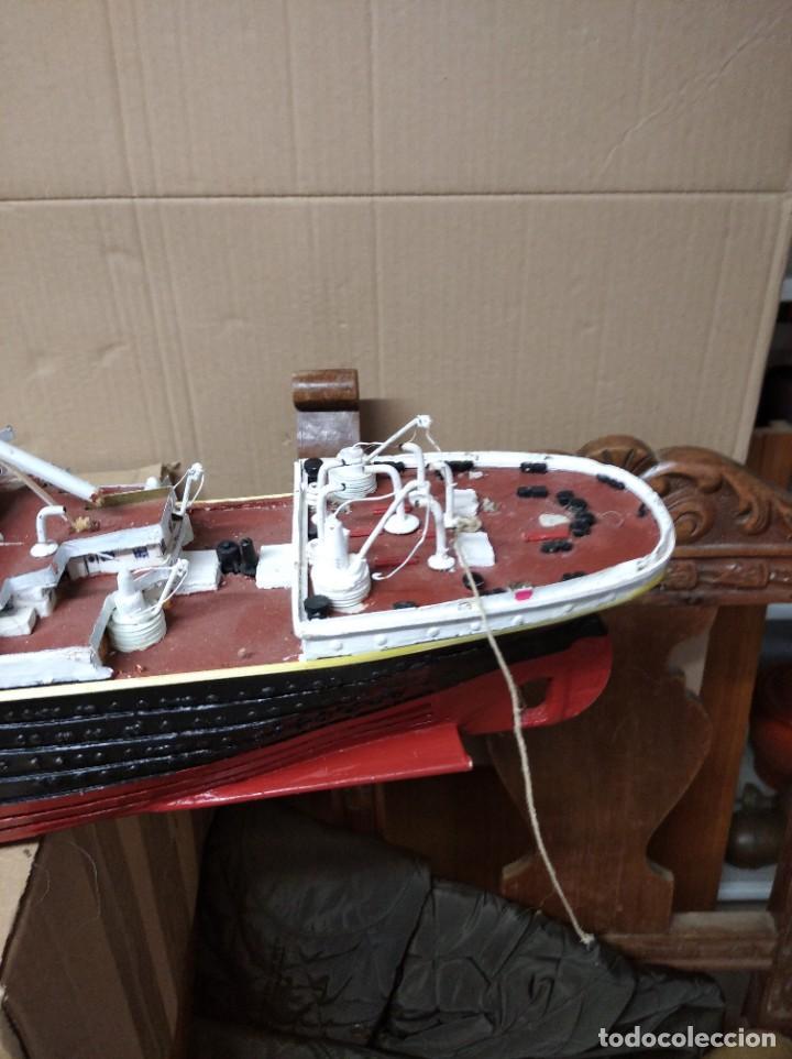 Maquetas: Enorme maqueta del Titanic. Fabricada artesanalmente. Para restaurar. Faltan piezas. - Foto 18 - 247731110