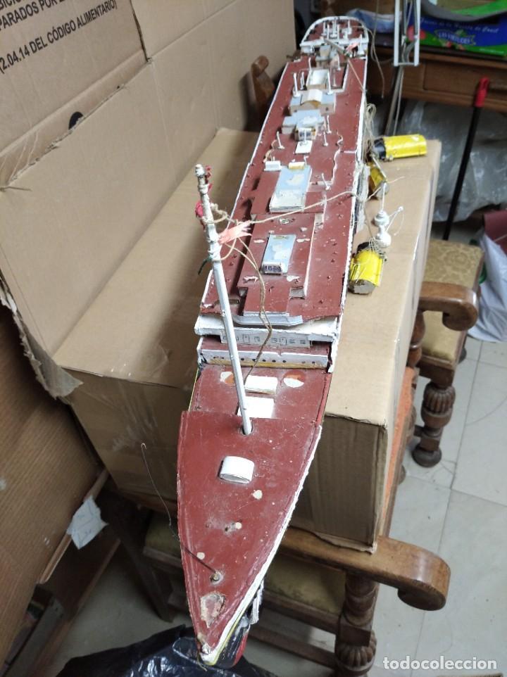 Maquetas: Enorme maqueta del Titanic. Fabricada artesanalmente. Para restaurar. Faltan piezas. - Foto 22 - 247731110