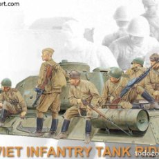 Maquettes: DRAGON - SOVIET INFANTRY TANK RIDERS 1/35 6197. Lote 248098035