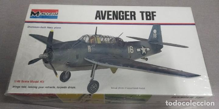 AVENGERS TBF MONOGRAM GRUMMAN BUILT NAVY PLANES 1/48 (Juguetes - Modelismo y Radio Control - Maquetas - Aviones y Helicópteros)