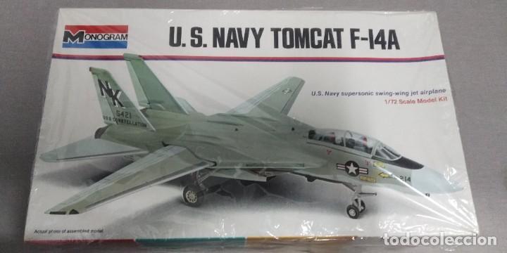 U.S NAVY TOMCAT F-I4A MONOGRAM1/72 (Juguetes - Modelismo y Radio Control - Maquetas - Aviones y Helicópteros)