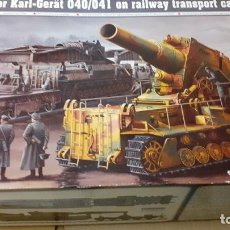 Maquetas: MORSER KARL GERAT 040/041 ON RAILWAY TRANSPORT. TRUMPETER 1/35. Lote 249012980