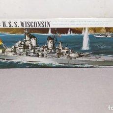 Maquetas: BATTLESHIP: USS WISCONSIN 1/535 REVELL. AÑO 1969. NUEVO. Lote 249137720