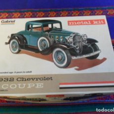 Maquettes: GABRIEL METAL KIT 1932 CHEVROLET COUPE. AÑO 1975. SIN MONTAR. MUY RARO.. Lote 249366610