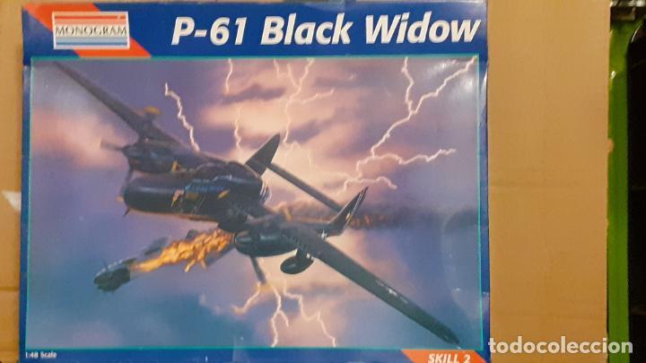 NORTHROP P 61 BLACK WIDOW. MONOGRAM 1/48 (Juguetes - Modelismo y Radio Control - Maquetas - Aviones y Helicópteros)