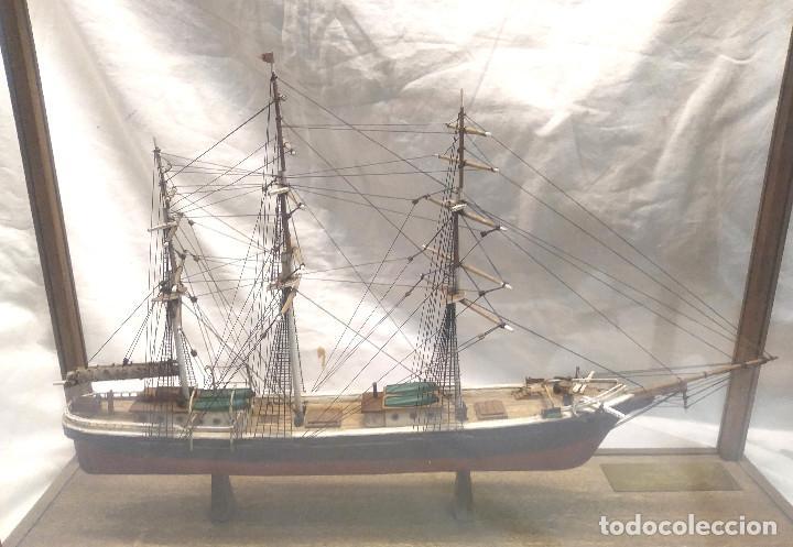 Maquetas: The American Clipper Flying Cloud año 1851 Maqueta Madera con Vitrina, buen estado siempre Urna. - Foto 6 - 251294965