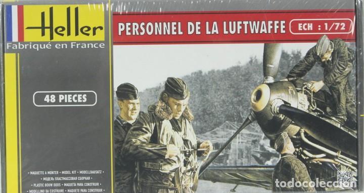 MAQUETA FIGURAS ALEMANAS, PERSONAL LUFTWAFFE, REF. 49655, 1/72, HELLER (Juguetes - Modelismo y Radiocontrol - Maquetas - Militar)