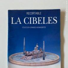 Maquetas: MAQUETA RECORTABLE. FUENTE LA CIBELES, MADRID. GRANDES MONUMENTOS DE ESPAÑA. ED. MERINO. MODELISMO.. Lote 251700590