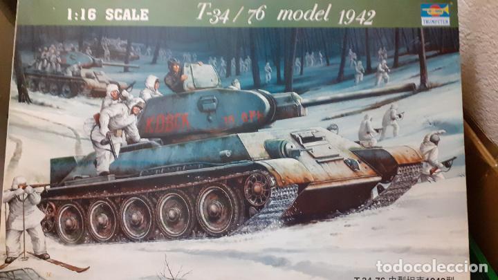 T 34/76 MOD 1942. TRUMPETER 1/16 (Juguetes - Modelismo y Radiocontrol - Maquetas - Militar)
