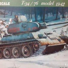 Maquetas: T 34/76 MOD 1942. TRUMPETER 1/16. Lote 251835340