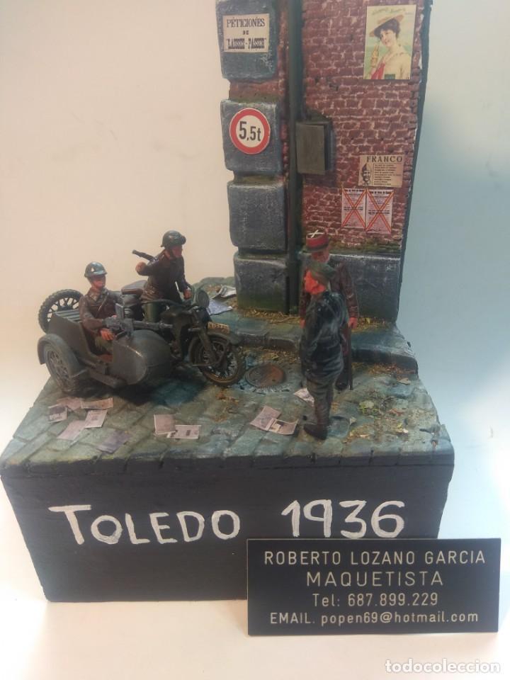 Maquetas: DIORAMA MAQUETA GUERRA CIVIL ESPAÑOLA-TOLEDO 1936 - Foto 2 - 252257210