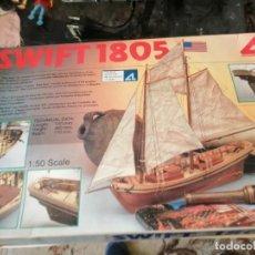 Maquetas: MAQUETA BARCO SWIFT 1805 DE ARTESANÍA LATINA. Lote 252929025
