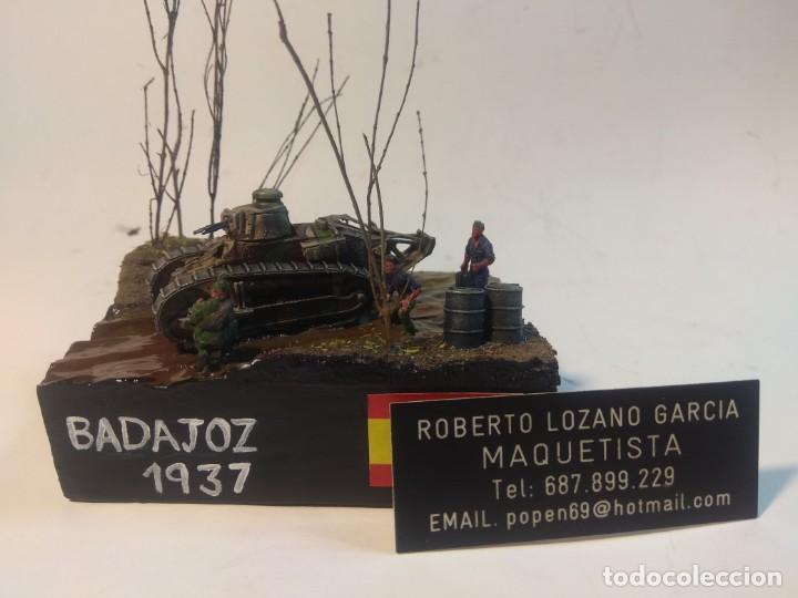 Maquetas: DIORAMA MAQUETA GUERRA CIVIL ESPAÑOLA - BADAJOZ 1937 - Foto 2 - 252937800