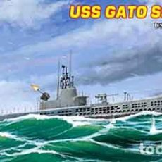 Maquetas: MAQUETA DEL SUBMARINO NORTEAMERICANO USS GATO (SS-212) VERSIÓN 1944 DE HOBBY BOSS A 1/700. Lote 253177490