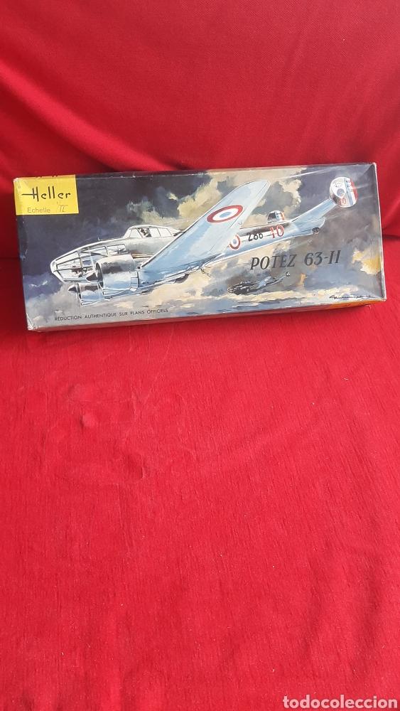 ANTIGUA Y GRANDE MAQUETA DE AVION HELLER POTEZ 63-11 (Juguetes - Modelismo y Radio Control - Maquetas - Aviones y Helicópteros)
