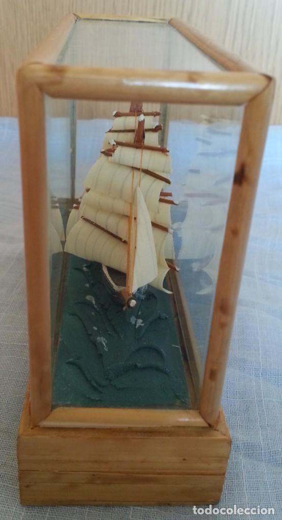 Maquetas: Barco. Pequeña maqueta en vitrina. - Foto 3 - 253629320