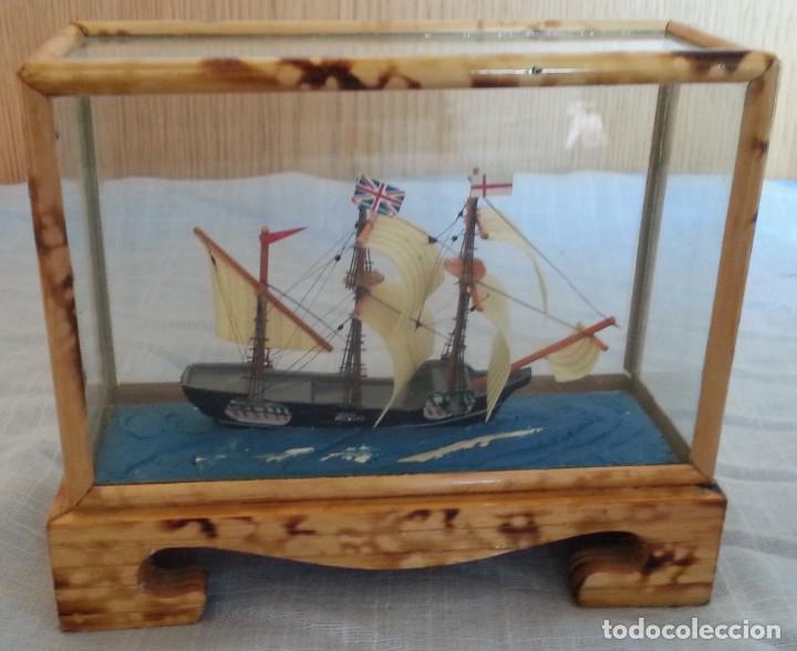 Maquetas: Barco. Pequeña maqueta en vitrina. - Foto 3 - 253633515