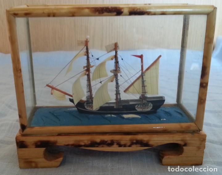 Maquetas: Barco. Pequeña maqueta en vitrina. - Foto 5 - 253633515