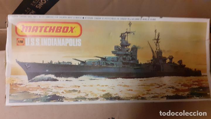 USS INDIANAPOLIS. MATCHBOX 1/700 (Juguetes - Modelismo y Radiocontrol - Maquetas - Barcos)