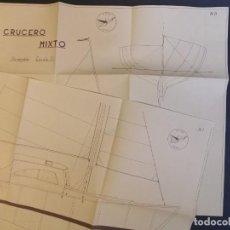 Maquetas: CRUCERO MIXTO PLANO DE BARCO - MODELISMO NAVAL - MAQUETAS - AGRUPACIÓN DE MINIATURISTAS NAVALES. Lote 254088890