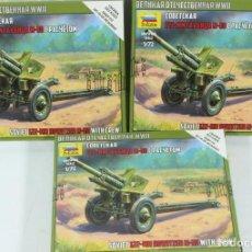 Maquetas: MAQUETA CAÑÓN M-30, HOWITZER 122 MM, REF. 6122, 1/72, ZVEZDA, 3 UNIDADES. Lote 254282145