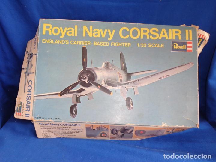 REVELL - MAQUETA AVION ROYAL NAVY CORSAIR II ESCALA 1:32 AÑO 1972,VER FOTOS! SM (Juguetes - Modelismo y Radio Control - Maquetas - Aviones y Helicópteros)