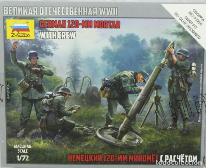 MAQUETA FIGURAS ALEMANAS CON MORTERO DE 120 MM. REF. 6268, 1/72, ZVEZDA (Juguetes - Modelismo y Radiocontrol - Maquetas - Militar)