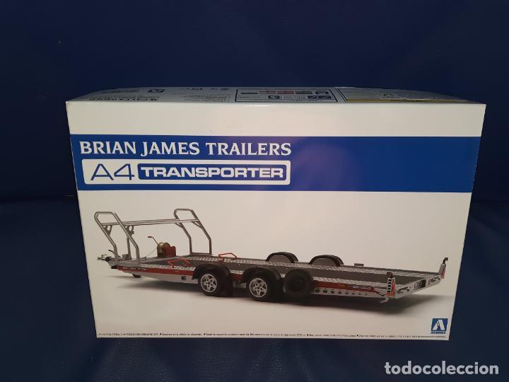 AOSHIMA BRIAN JAMES TRAILERS A4 TRANSPORTER - THE TUNED PARTS - ESC 1/24 - JAPAN - MAQUETA REMOLQUE (Juguetes - Modelismo y Radiocontrol - Maquetas - Coches y Motos)