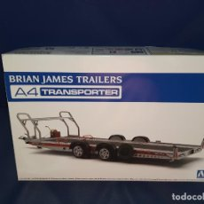 Maquetas: AOSHIMA BRIAN JAMES TRAILERS A4 TRANSPORTER - THE TUNED PARTS - ESC 1/24 - JAPAN - MAQUETA REMOLQUE. Lote 254472610