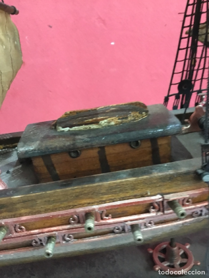 Maquetas: Antigua MAQUETA FRAGATA ESPAÑOLA 1780 . Ver fotos - Foto 5 - 254683470