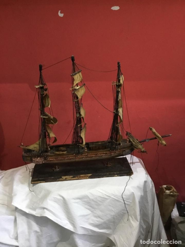 ANTIGUA MAQUETA FRAGATA ESPAÑOLA 1780 . VER FOTOS (Juguetes - Modelismo y Radiocontrol - Maquetas - Barcos)