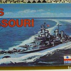 Maquettes: USS MISSOURI - ESCALA 1/1200 ESCI 404. Lote 254808580