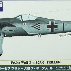 Maquetas: MAQUETA AVIÓN FOCKE WULF FW-190 A-3 PRILLER, REF. 51955, 1/48, HASEGAWA. Lote 255456635