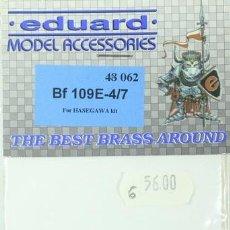 Maquetas: MAQUETA ACCESORIOS FOTOGRABADO MESSERSCHMITT BF 109 E-4/7, REF. 48 062, 1/48, EDUARD. Lote 255458145