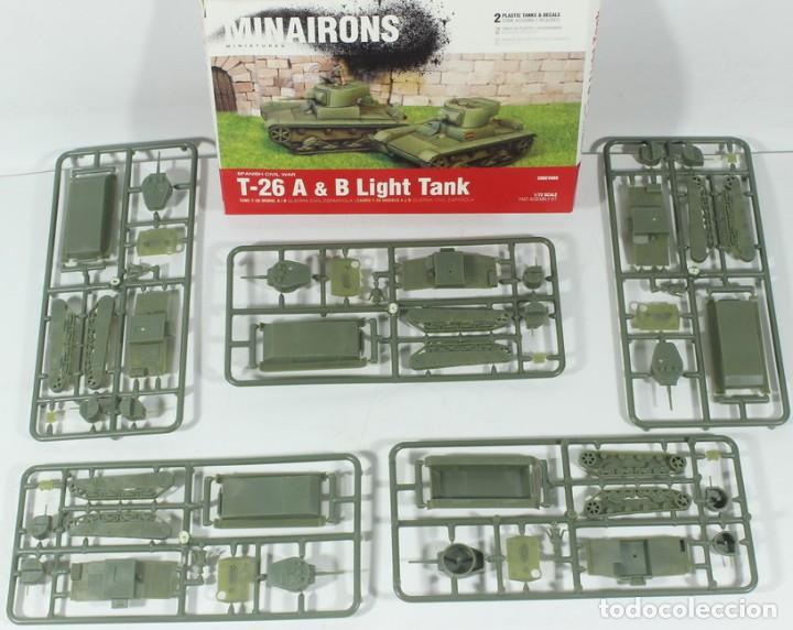MAQUETA CARRO T-26 A – T-26 B, REF. 20GEV005, 1/72, MINAIRONS, 5 UNIDADES (SIN CAJA) (Juguetes - Modelismo y Radiocontrol - Maquetas - Militar)