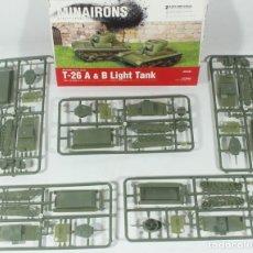Maquetas: MAQUETA CARRO T-26 A – T-26 B, REF. 20GEV005, 1/72, MINAIRONS, 5 UNIDADES (SIN CAJA). Lote 269754068