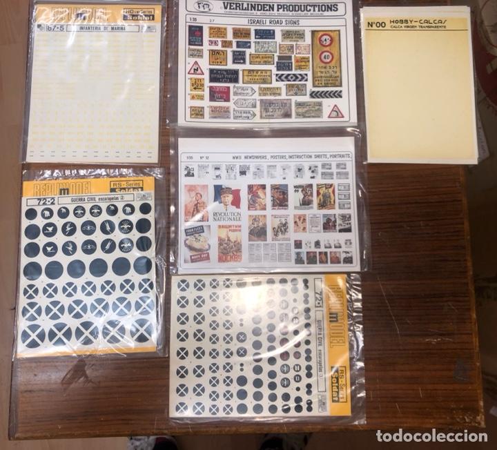 PACK DE CALCAS DE MODELISMO (Juguetes - Modelismo y Radiocontrol - Maquetas - Militar)