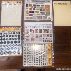Maquetas: PACK DE CALCAS DE MODELISMO. Lote 255937315
