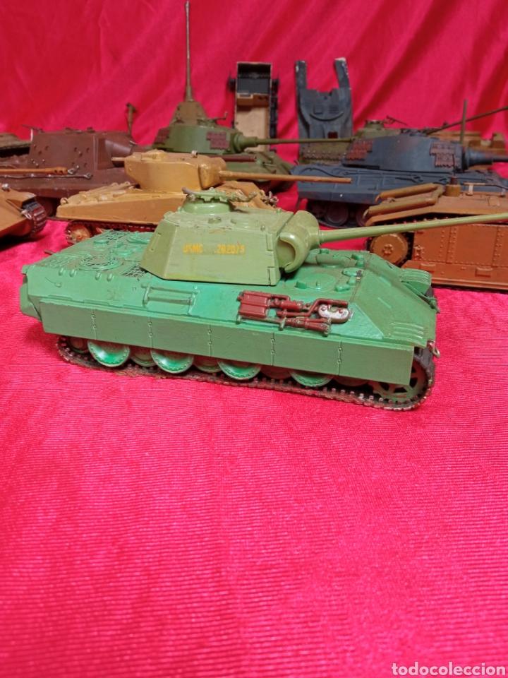 Maquetas: Lote 9 tanques carros de combate PANTHER. KING TIGER. JAGD TIGER. 1/43 plástico metal - Foto 2 - 255938540