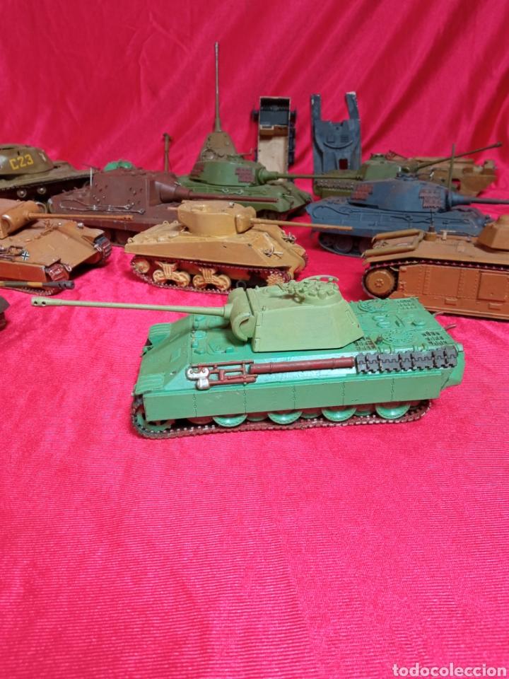 Maquetas: Lote 9 tanques carros de combate PANTHER. KING TIGER. JAGD TIGER. 1/43 plástico metal - Foto 4 - 255938540