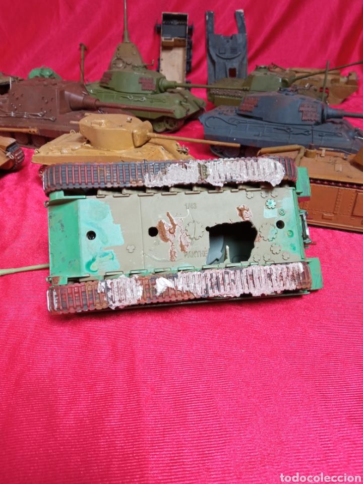 Maquetas: Lote 9 tanques carros de combate PANTHER. KING TIGER. JAGD TIGER. 1/43 plástico metal - Foto 5 - 255938540