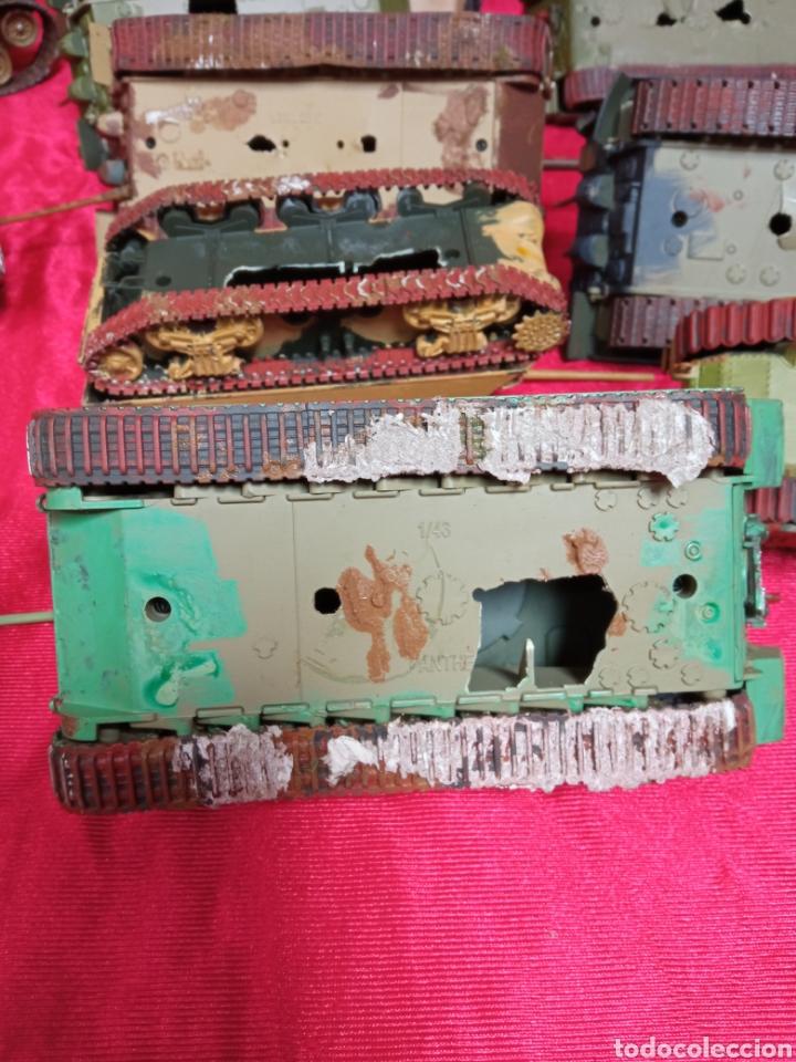 Maquetas: Lote 9 tanques carros de combate PANTHER. KING TIGER. JAGD TIGER. 1/43 plástico metal - Foto 7 - 255938540